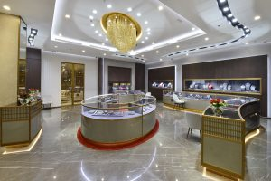 Turnkey fit-out with bespoke shopfittings: Al Zain Jewellery Seef Bahrain
