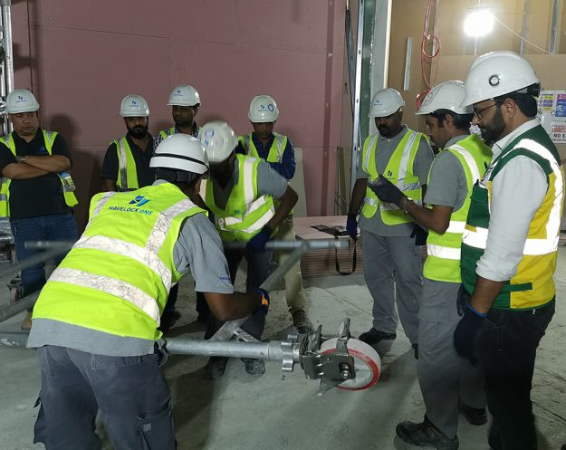 Havelock One Dubai educates its workforce and receives the PASMA training certificate