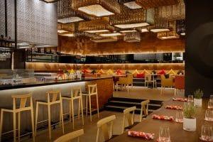 The warm and vibrant interiors of Salero Bahrain