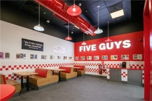 Havelock One was in charge of the turnkey fit-out of FIVE GUYS at City Walk