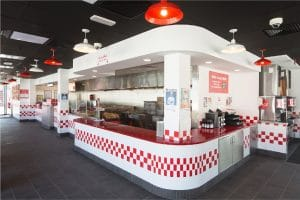 Havelock One was in charge of the turnkey fit-out of FIVE GUYS at La Mer