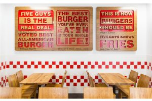 Havelock One was in charge of the turnkey fit-out of FIVE GUYS at Al Seef